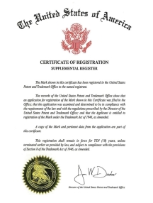 Trademark Filing Example Certificate of Registration